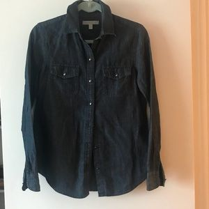 Banana Republic Heritage linen blend jean shirt